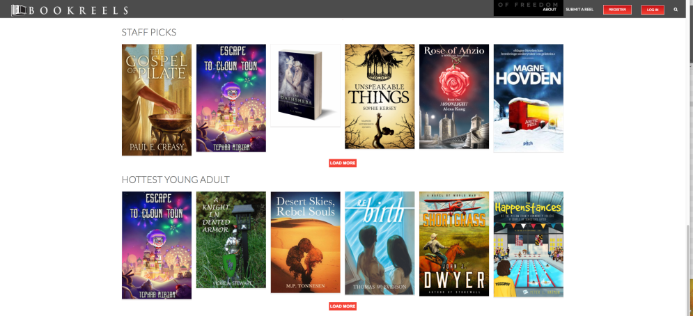 The book reel created by TEPHRAMIRIAM Films was was selected as both a feature and staff pick on BookReels.com.